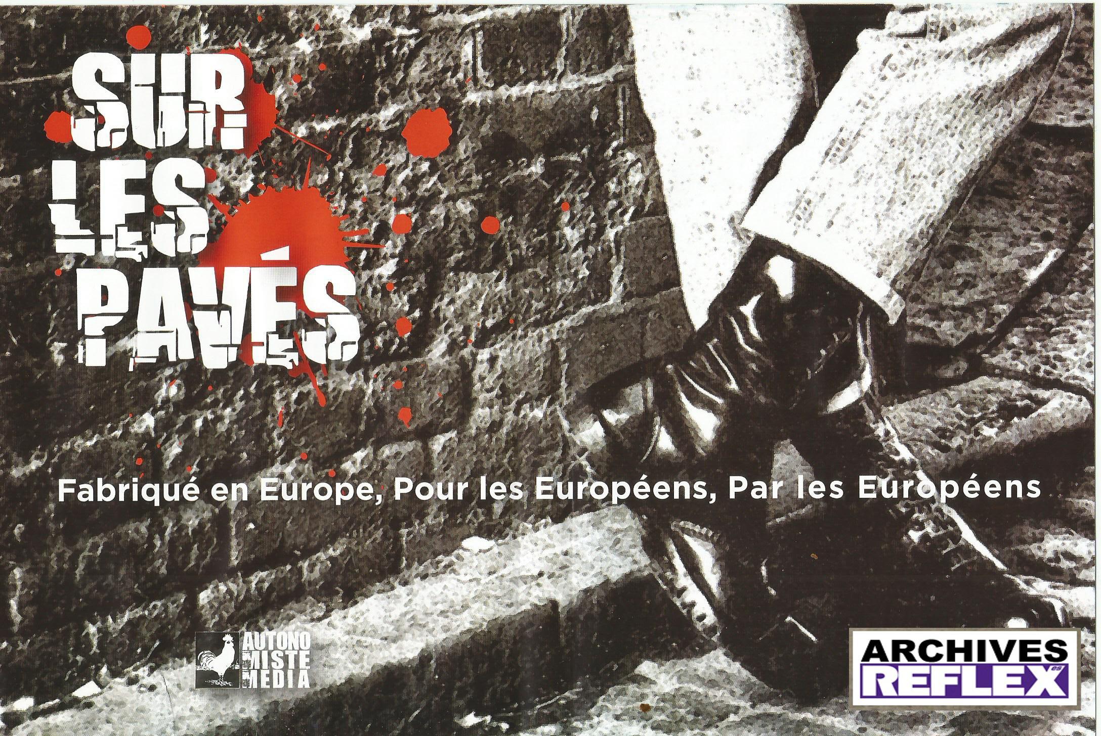 """Pochette intérieure du DVD """"Sur les pavés"""" 2009"""