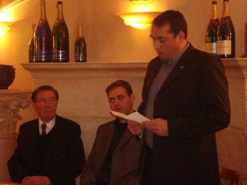 8 janvier 2009, P. Sidos, Y. Benedetti et C. Georgy pour la 1re rencontre militante de l'Oeuvre Française sur Dijon