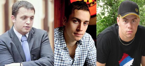 De gauche à droite : Pierre Robesson alias « Robloch », Damien Lefèvre alias Damien Rieu dit « Perry » et Damien Montant.