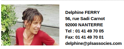 « Contact de Deplhine Ferry sur le site internet de la société « PLS Associés » avant qu'elle ne la quitte »