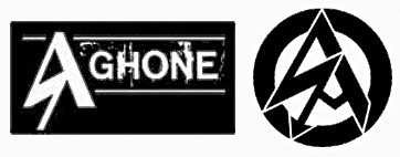 A gauche le logo du groupe Aghone, a droite celui des SA (Sturm Abteilung) bras armé du NSDAP d'Adolf Hitler.