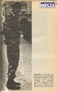 Hélie de Saint-Marc à Alger devant ses troupes du 1er REP, photo tirée du livre de Pierre Sergent Je ne regrette rien