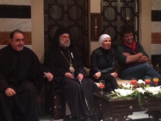 Olivier Demeocq en Syrie en décembre 2013, photo tirée du site de l'Observatoire de la christianophobie.