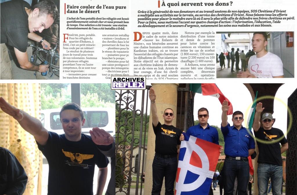 Les photos du haut sont extraites du bulletin de SOS Chrétiens d'Orient, celle du bas pas vraiment, il est en Italie où il commémore avec ses amis, dont A. Gabriac la mort du Duce (Crémona le 27 avril 2012).