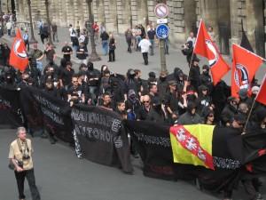 Les autonomes nationalistes, version française, lors d'une manifestation à Paris le 12 mai 2011.