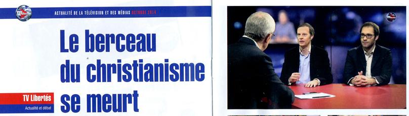 Journal de TV Libertés d'octobre 2014.